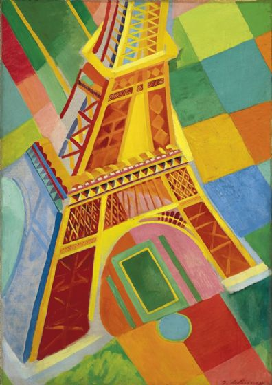 Delaunay, Robert: Eiffel Tower. Fine Art Print/Poster. Sizes: A4/A3/A2/A1 (003214)